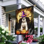 Schnauzer Halloween.Trick Or Treat Flag