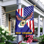 US State West Virginia American Eagle Flag