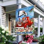 West Virginia Take Me Home Country Roads Red Truck Flag MLH1684Fv1