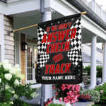 Personalized If We Don't Answer Check The Track. Racing Flag
