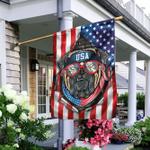 Bulldog American Flag