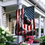 Patriotic Horse American Flag LHA1528Fv2