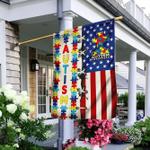 Puzzle Autism Awareness American Flag