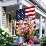 Patriotic Labrador Retriever Flag