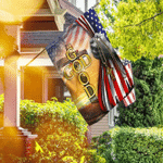 God Is Good All The Time. Christian Cross American Flag