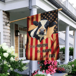 Stay Positive Be Happy Live Free Cow  American U.S. Flag