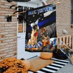 Back The Blue German Shepherd Halloween Flag