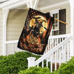 Dachshund. Happy Halloween. Trick Or Treat America Flag TH2502F