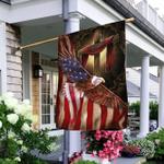 Jesus Christian American Eagle Flag