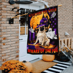 Never Mind The Witch Beware Of The Pug Flag