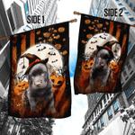 Chocolate Labrador Happy Halloween Flag