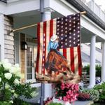 Pole Bending American Flag