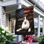 Bull Terrier American Flag