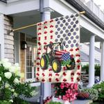 Tractor Farmer American Flag