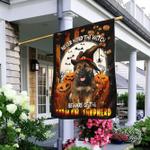Beware of The German Shepherd Halloween Flag