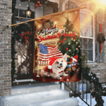 Corgi Santa Paws Merry Christmas Flag