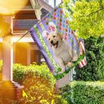 Labrador Retriever. Happy Easter American Flag