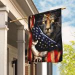 Christian Lion Cross Flag