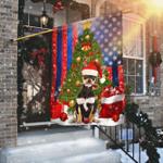 Chihuahua. Merry Christmas Flag