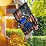 Sprint Car Racing American US Flag