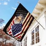 Sheltie American Patriot Flag