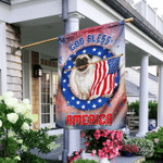 Pug God Bless America Independence Day Flag