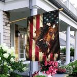 Native American Horse American US Flag