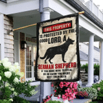 This Property Is Protected By The Good Lord And A German Shepherd Flag