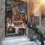 Merry Christmas Dobermann Flag