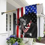 Rottweiler American Flag