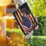 Brindle Boxer American Patriot Flag