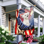 Happy Independence Day Curly Maltese Flag