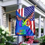 Autistic Pride Infinity American Eagle Flag