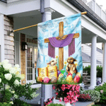 Happy Easter He Is Risen Flag