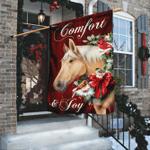 Horse Comfort And Joy Christmas Flag