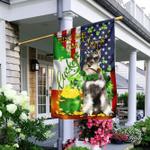Kiss Me I'm Irish Miniature Schnauzer St. Patrick's Day Flag