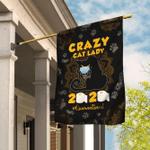 Crazy Black Cat Lady Flag