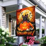 Pug Halloween Pumpkin Flag
