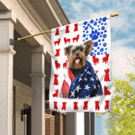 Yorkshire Terrier 4th July Flag