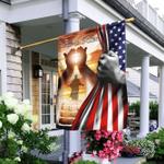 He Is Risen Jesus American US Flag