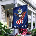 Maine Eagle Flag