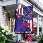 US State Georgia American Eagle Flag