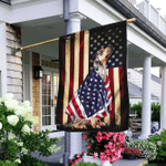 Catahoula Leopard Dog American Patriot Flag