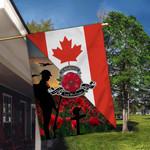 Canada Veterans - Memorial Flag - Lest We Forget V1