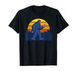 Rock On Bigfoot Retro Sunset For Sasquatch Believer T-Shirt