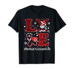 Ph Love Plaid Leopard Christmas Medical Assistant Reindeer T-Shirt