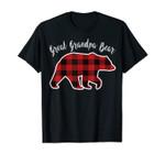 Great Grandpa Bear | Men Red Plaid Christmas Pj Family Gift T-Shirt