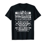 I Am A Lucky Brother Christmas Gift For Brother From Sister T-Shirt
