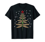 Funny Dragonfly Christmas Tree Ornaments Leopard Red Plaid T-Shirt