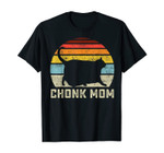 Chonk Cat Mom Scale Meme Funny Retro Style Mommy Cats Memes T-Shirt